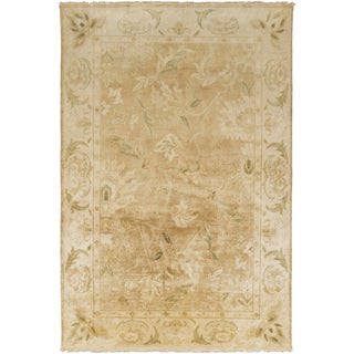 Hand-Knotted Lawrence Floral New Zealand Wool Rug (8' x 11')