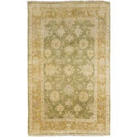 Hand-Knotted Shania Floral New Zealand Wool Area Rug - 8' x 11'