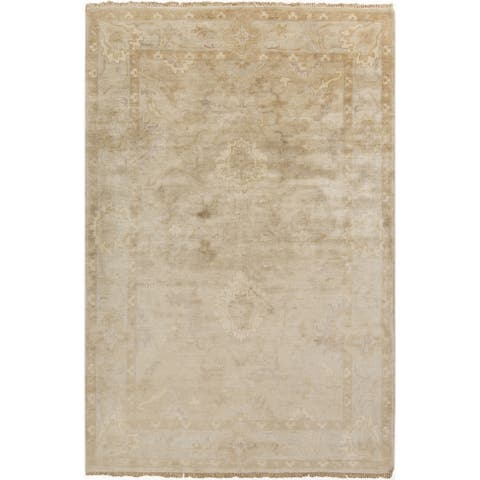 Hand-Knotted Seamus Floral New Zealand Wool Area Rug - 8' x 11'