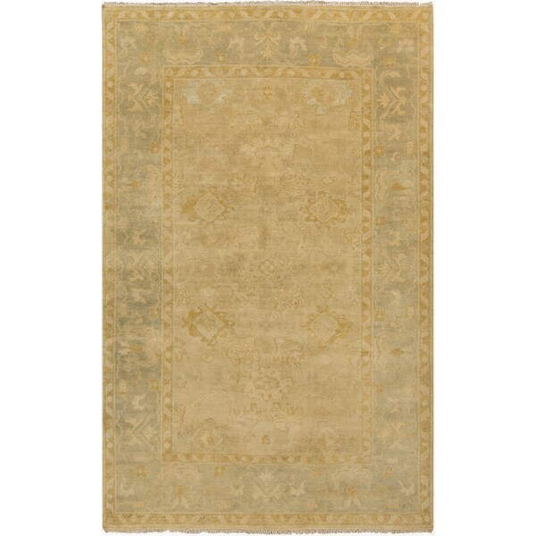 """Hand-Knotted Sergio Floral New Zealand Wool Area Rug - 5'6"""" x 8'6"""""""