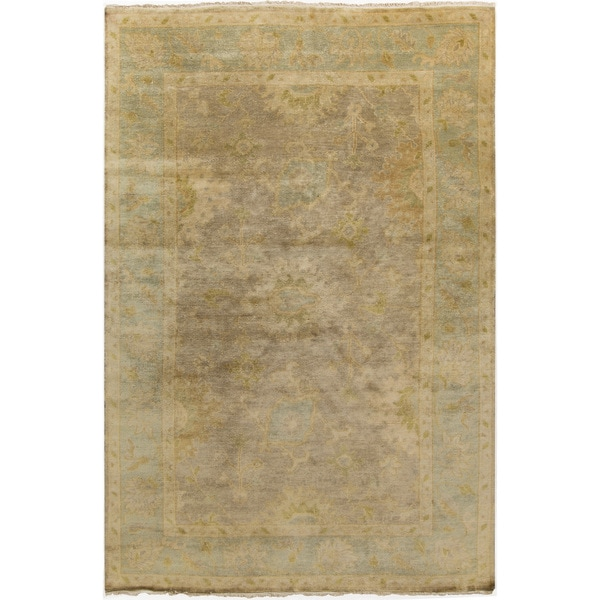 Hand-Knotted Sawyer Floral New Zealand Wool Rug (5'6 x 8'6)