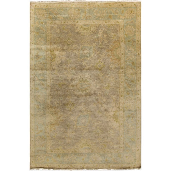 Hand-Knotted Sawyer Floral New Zealand Wool Area Rug - 5'6 x 8'6'