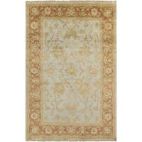 Hand-Knotted Sallie Floral New Zealand Wool Area Rug - 5'6 x 8'6'