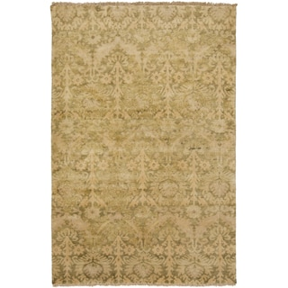 """Hand-Knotted Muriel Floral New Zealand Wool Area Rug - 5'6"""" x 8'6"""""""
