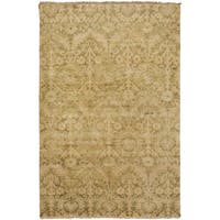 "Hand-Knotted Muriel Floral New Zealand Wool Area Rug - 5'6"" x 8'6"""