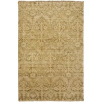 Hand-Knotted Muriel Floral New Zealand Wool Area Rug - 5'6 x 8'6'