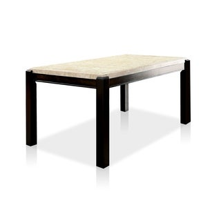 Furniture of America Joreth Genuine Marble Top Dining Table