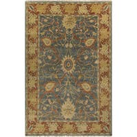 Hand-Knotted Miriam Floral New Zealand Wool Area Rug - 5'6 x 8'6'