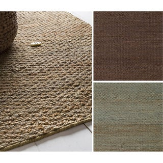 Hand-Woven Milagros Solid Pattern Jute Rug (5' x 8')