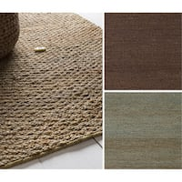 Hand-Woven Milagros Solid Pattern Jute Area Rug - 5' x 8'