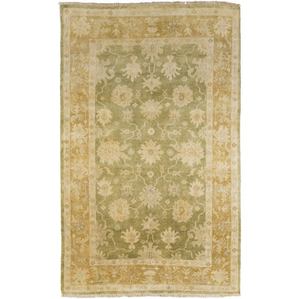 """Hand-Knotted Shania Floral New Zealand Wool Area Rug - 3'6"""" x 5'6"""""""