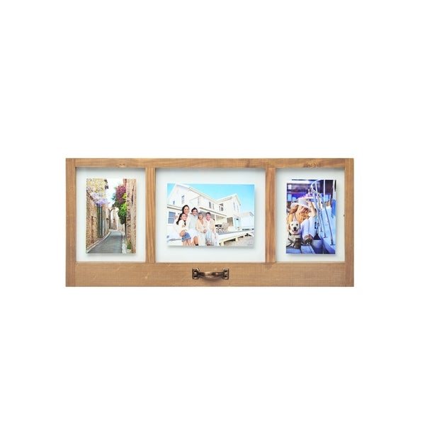 Shop Melannco Natural Wood Floating Collage Picture Frame - Free ...