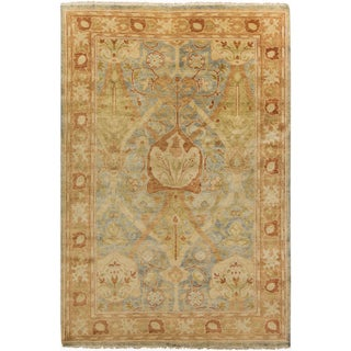 Hand-Knotted Monica Floral New Zealand Wool Rug (2' x 3')