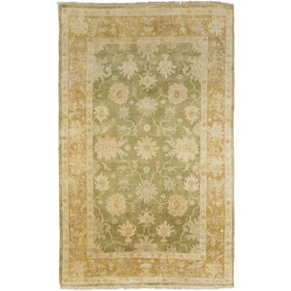 Hand-Knotted Shania Floral New Zealand Wool Area Rug - 9' x 13'