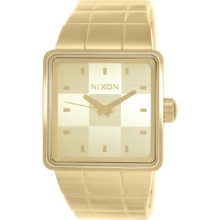 Nixon Men's Quatro A013502 Goldtone Stainless Steel Quartz Watch