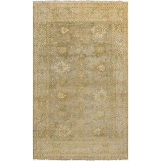 Hand-Knotted Samuel Floral New Zealand Wool Area Rug - 2' x 3'