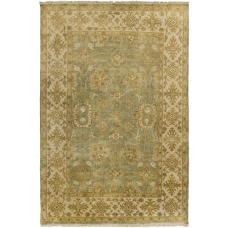 Hand-Knotted Samara Floral New Zealand Wool Rug (2' x 3')