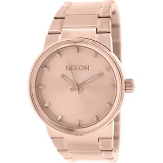 Nixon Men's Cannon A160897 Rose-goldtone Stainless Steel Quartz Watch|https://ak1.ostkcdn.com/images/products/9830347/P16993341.jpg?impolicy=medium