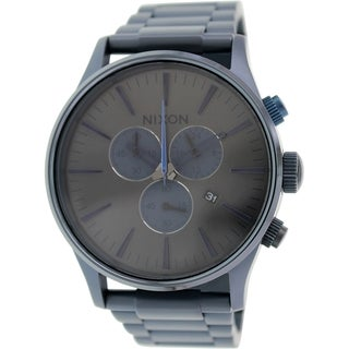Nixon Men's Sentry A3861679 Blue Stainless Steel Quartz Watch