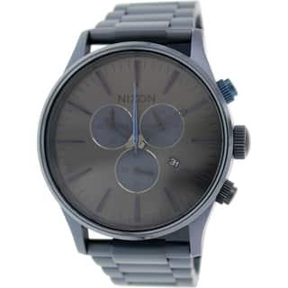Nixon Men's Sentry A3861679 Blue Stainless Steel Quartz Watch https://ak1.ostkcdn.com/images/products/9830353/P16993347.jpg?impolicy=medium