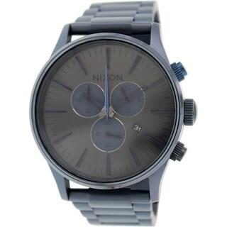 Nixon Men's Sentry A3861679 Blue Stainless Steel Quartz Watch