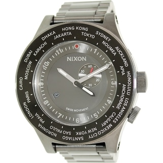 Nixon Men's Passport A379131 Grey Stainless Steel Swiss Quartz Watch