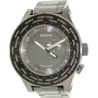Nixon Men's Passport A379131 Grey Stainless Steel Swiss Quartz Watch|https://ak1.ostkcdn.com/images/products/9830355/P16993348.jpg?impolicy=medium