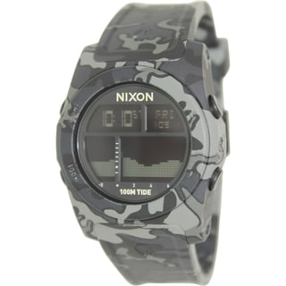 Nixon Men's Rhythm A385825 Black Resin Quartz Watch