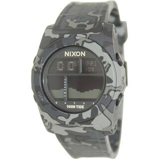 Nixon Men's Rhythm A385825 Black Resin Quartz Watch
