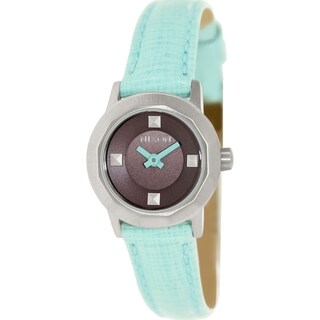 Nixon Women's Mini B  Green Leather Quartz Watch
