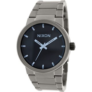 Nixon Men's Cannon A1601427 Gunmetal Stainless Steel Quartz Watch