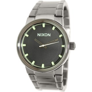 Nixon Men's Cannon A1601885 Grey Stainless Steel Quartz Watch