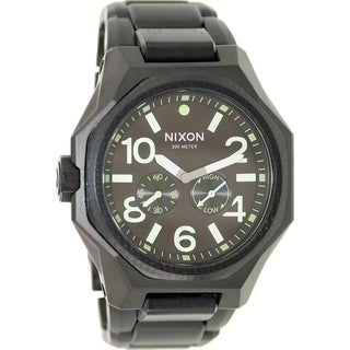 Nixon Men's Tangent A3971042 Black Stainless Steel Swiss Quartz Watch