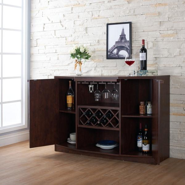 Furniture Of America Chapline Modern Wine Bar Buffet   Free Shipping Today    Overstock.com   16995191