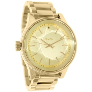 Nixon Men's Facet A384502 Goldtone Stainless Steel Quartz Watch