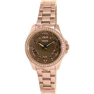 Fossil Women's AM4615 Rose-goldtone Stainless Steel Automatic Watch