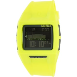 Nixon Men's Lodown A2891262 Yellow Resin Quartz Watch