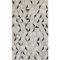 Handmade Evan Animal Pattern Leather Area Rug - 2' x 3'