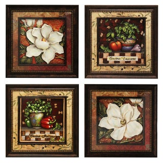 Springtime Harvest Metal Wall Art Decor (Set of 4)