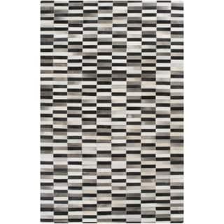 Handmade Jodi Animal Pattern Leather Rug (8' x 10')