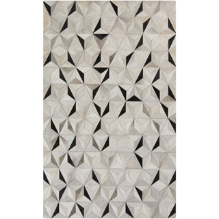 Handmade Evan Animal Pattern Leather Rug (8' x 10')