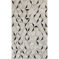 Handmade Evan Animal Pattern Leather Area Rug - 8' x 10'