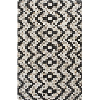 Handmade Juan Animal Pattern Leather Rug (5' x 8')