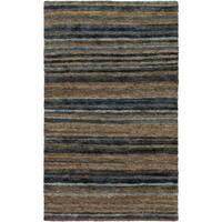 Hand-Woven Jeff Stripe Hemp Textured Area Rug - 5' x 8'
