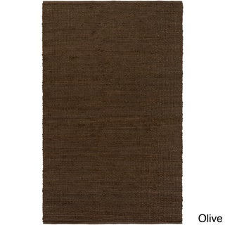 Hand-Woven Ivey Solid Pattern Chenille Area Rug - 5' x 8'