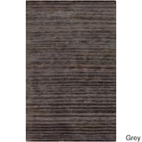 Hand-Woven Eric Stripe Hemp Textured Area Rug