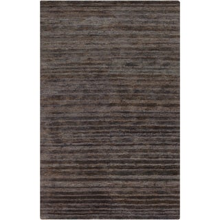 Hand-Woven Eric Stripe Hemp Textured Rug (3'3 x 5'3)