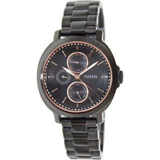 Fossil Women's Chelsey ES3451 Black Stainless Steel Quartz Watch