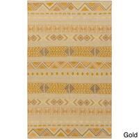 Hand-woven Stephen Southwestern Wool Area Rug (2' x 3')