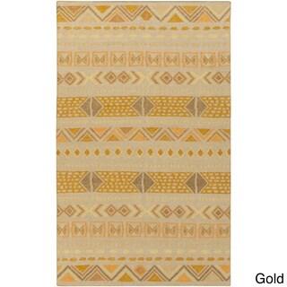 Hand-Woven Stephen Southwestern Wool Rug (8' x 11')
